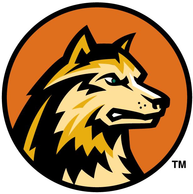 Wright State Raiders Logo Alternate Logo (2001-Pres) - Dog head on orange circle SportsLogos.Net