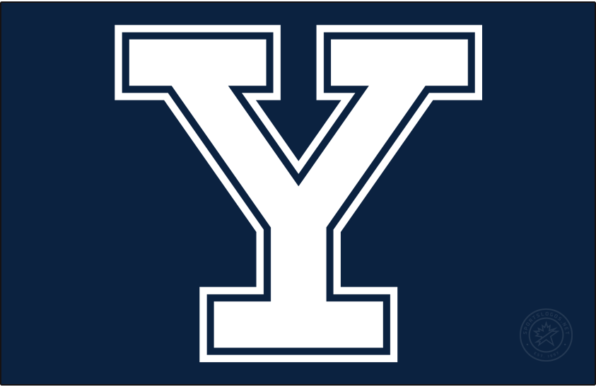 Yale Bulldogs Logo Primary Dark Logo (2019-Pres) - In 2019, the Y Bulldog logo was discontinued and the outlined Block Y logo took over as the Primary. SportsLogos.Net