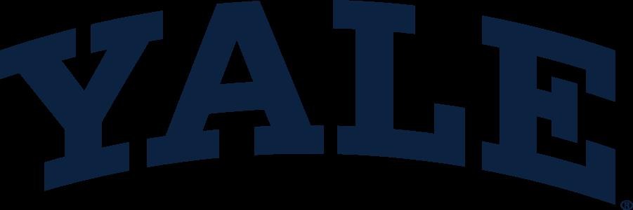 Yale Bulldogs Logo Wordmark Logo (1935-Pres) - Arched Block Yale wordmark. SportsLogos.Net