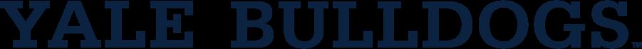 Yale Bulldogs Logo Wordmark Logo (1995-Pres) - Block Yale Bulldogs wordmark. SportsLogos.Net