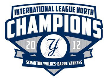 Scranton/Wilkes-Barre Yankees Logo Champion Logo (2012) - SWB Yankees 2012 International League North Division Champions SportsLogos.Net