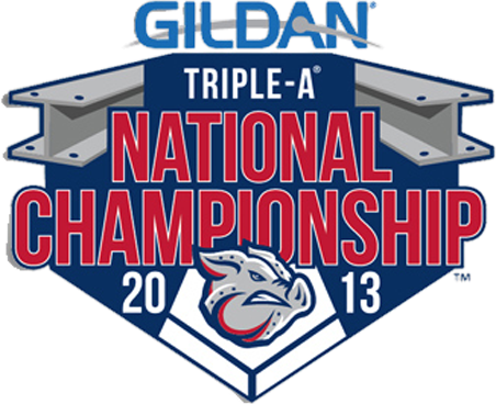 Lehigh Valley IronPigs Logo Special Event Logo (2013) - 2013 Triple A National Championship Logo - Game hosted by Lehigh Valley IronPigs SportsLogos.Net