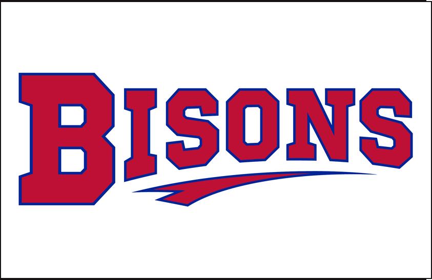 Buffalo Bisons Logo Jersey Logo (2013-Pres) - Home Uniform Script SportsLogos.Net