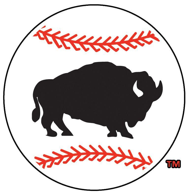 Buffalo Bisons Logo Alternate Logo (2005-2008) - Stationary bison on a baseball SportsLogos.Net