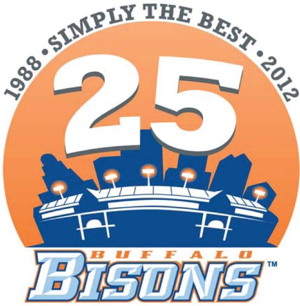 Buffalo Bisons Logo Stadium Logo (2012) - Coca-Cola Field 25th Anniversary Logo SportsLogos.Net