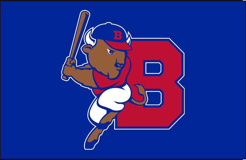Buffalo Bisons Logo Cap Logo (2013-Pres) - Home / Road Caps Mark SportsLogos.Net