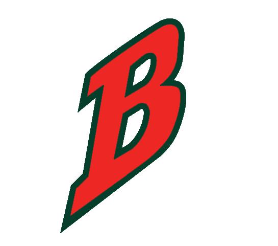 Buffalo Bisons Logo Cap Logo (1998-2003) - Red B outlined in green on white SportsLogos.Net
