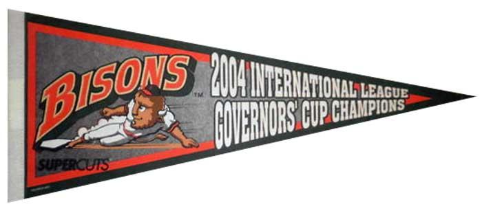 Buffalo Bisons Pennant Pennant (2004) - Buffalo Bisons 2004 IL Champions Pennant SportsLogos.Net