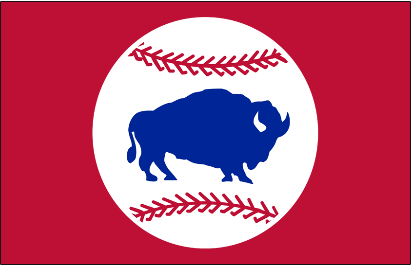 Buffalo Bisons Logo Cap Logo (2015-Pres) - Alternate cap logo featuring retro style bison on ball logo SportsLogos.Net