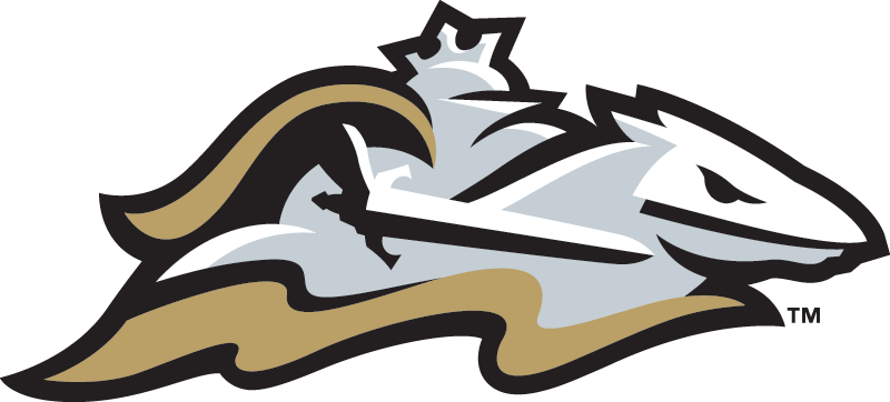 Charlotte Knights Logo Alternate Logo (2014-Pres) - Worn on the front of the Charlotte Knights road cap. A silver knight dressed in full armour riding a horse and holding a sword. A golden cape flowing from the knight SportsLogos.Net