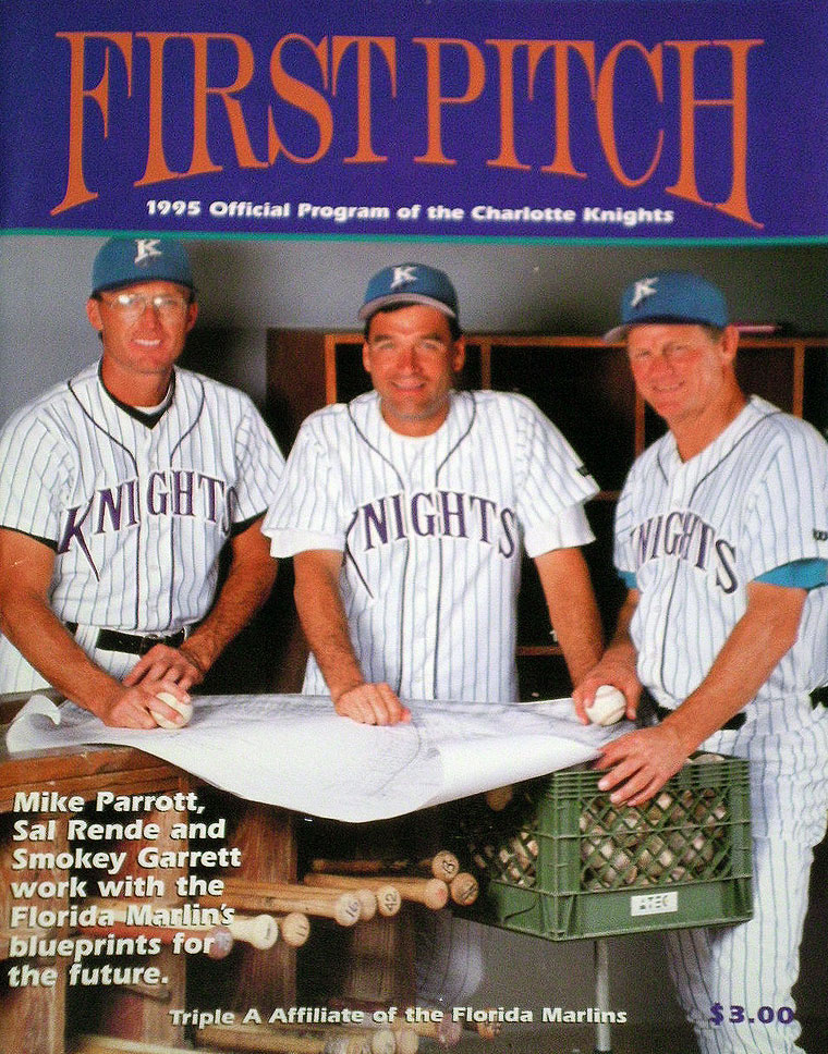 Charlotte Knights Program Program (1995) - Charlotte Knights program from the 1995 season, their first as an affiliate of the Florida Marlins SportsLogos.Net