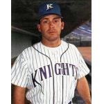 Charlotte Knights (1994) Charlotte Knights catcher Craig Colbert wearing the Knights road uniform during the 1994 season