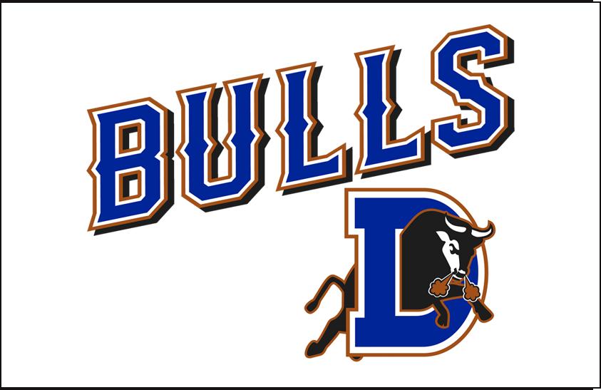 Durham Bulls Logo Jersey Logo (2013-Pres) - Home jersey wordmark SportsLogos.Net