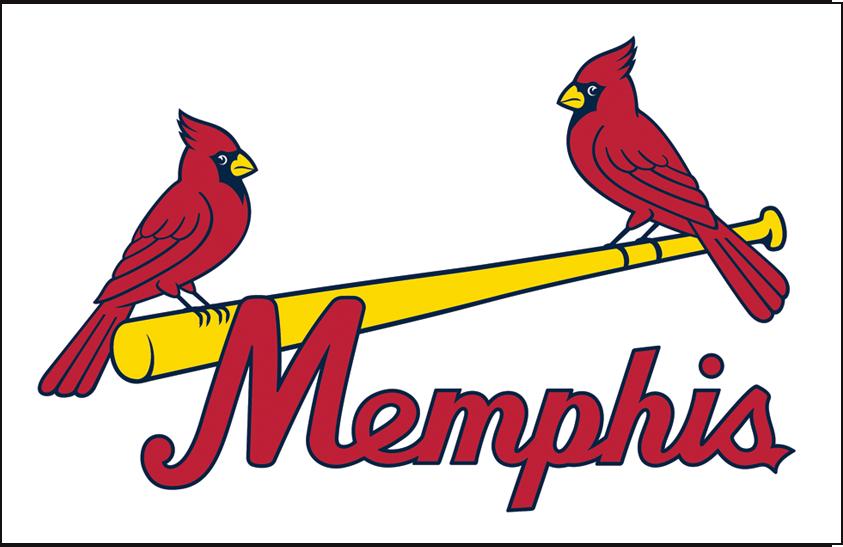 Memphis Redbirds Logo Jersey Logo (2015-2016) - Home Jersey crest SportsLogos.Net