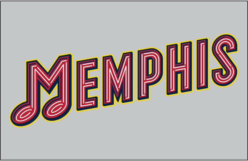 Memphis Redbirds Logo Jersey Logo (2017-Pres) - Road Jersey crest SportsLogos.Net