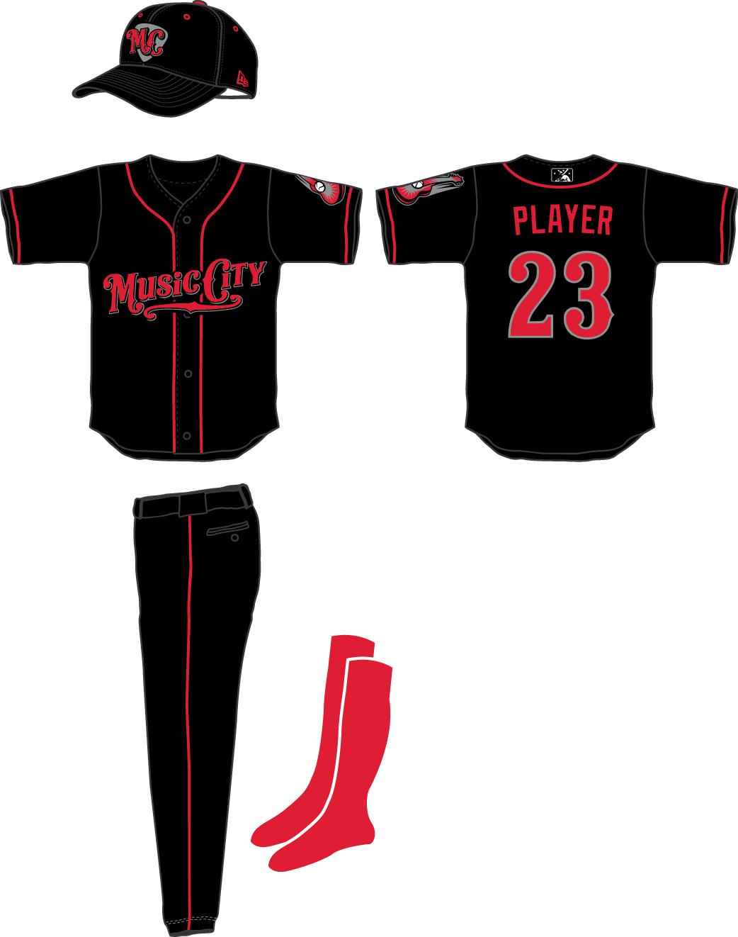 Nashville Sounds Uniform Alternate Uniform (2015-2018) -  SportsLogos.Net
