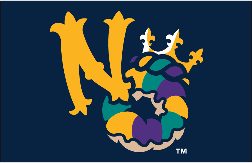 New Orleans Baby Cakes Logo Cap Logo (2017-Pres) - Road Cap logo SportsLogos.Net