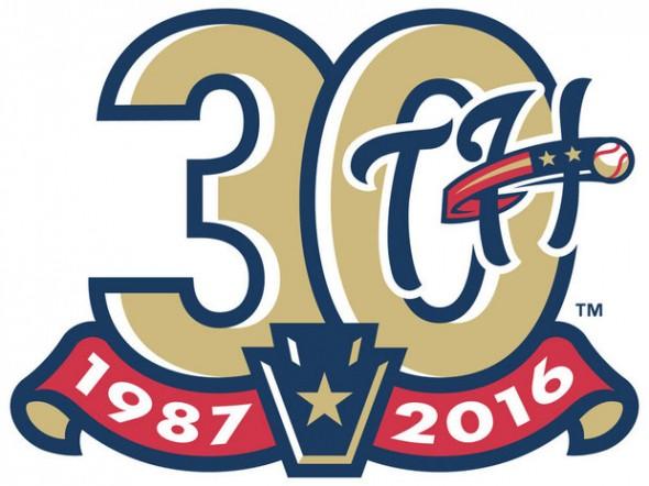 Harrisburg Senators Logo Anniversary Logo (2016) -  SportsLogos.Net