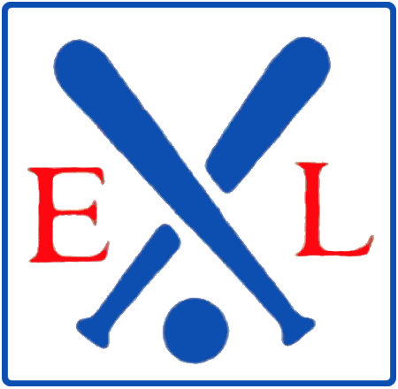 Eastern League Logo Primary Logo (1988-1997) - EL in red between two blue crossed bats and a baseball below inside a rounded rectangle SportsLogos.Net