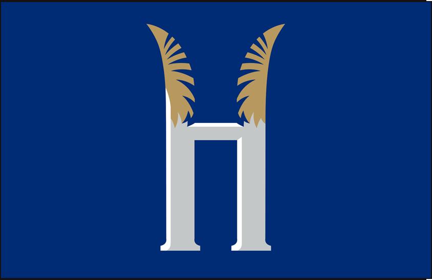 Hartford Yard Goats Logo Cap Logo (2016-Pres) - White H on blue, worn on Yard Goats alternate cap SportsLogos.Net