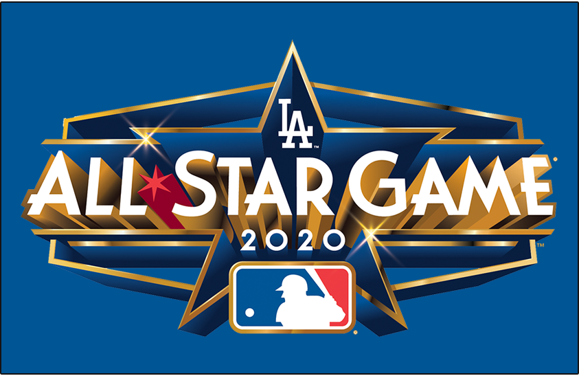 MLB All-Star Game Logo Unused Logo (2020) - The logo for the 2020 Major League All-Star Game featured a Hexagon shape is for the Dodger Stadium scoreboard with gold and deco lettering as a nod to Hollywood. The game was ultimately cancelled due to the COVID-19 pandemic, but this logo was recycled with a new year in its place for the 2022 MLB All-Star Game.  SportsLogos.Net
