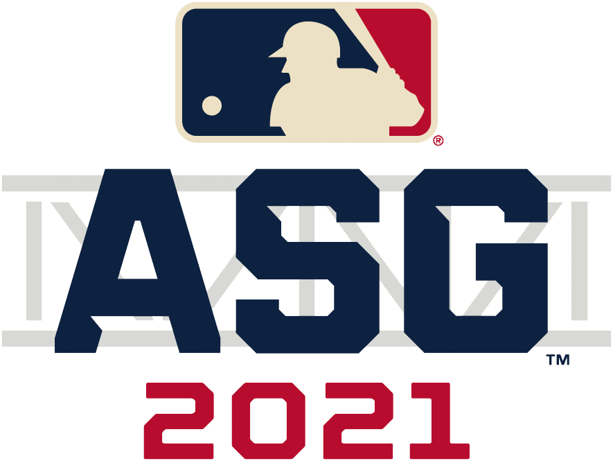 MLB All-Star Game Logo Unused Logo (2021) - The original 2021 Major League Baseball All-Star Game alternate logo, like the primary mark, incorporates the steel truss of the entrance to Truist Park in its design. The game was moved to Denver, Colorado just two days into the 2021 season in opposition to Georgia's controversial new voting laws. SportsLogos.Net