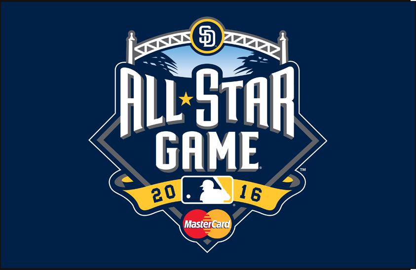 MLB All-Star Game Logo Sponsored Logo (2016) - 2016 MLB All-Star Game logo with Mastercard sponsor, game played in San Diego, CA SportsLogos.Net