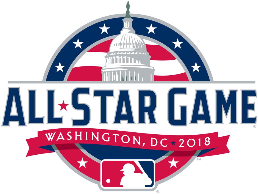 MLB All-Star Game Logo Primary Logo (2018) - 2018 MLB All-Star Game logo (on-field version), game played in Washington , DC SportsLogos.Net