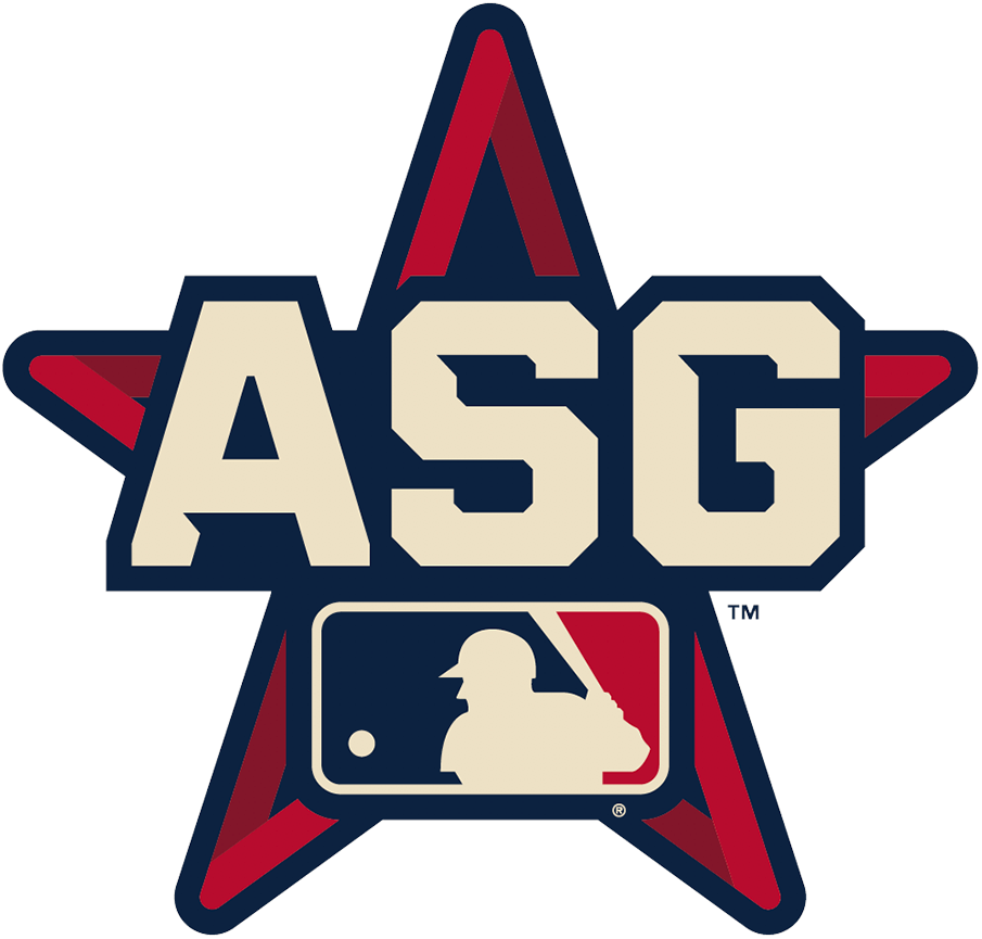 MLB All-Star Game Logo Unused Logo (2021) - The original 2021 Major League Baseball All-Star Game alternate logo features the acronym ASG in beige across a red and blue star. The game was moved to Denver, Colorado just two days into the 2021 season in opposition to Georgia's controversial new voting laws. SportsLogos.Net