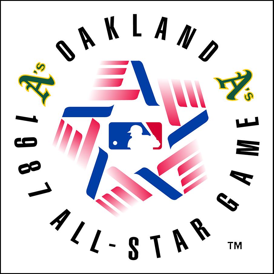 MLB All-Star Game Logo Primary Logo (1987) - 1987 MLB All-Star Game at Oakland-Alameda Coliseum in Oakland, California SportsLogos.Net