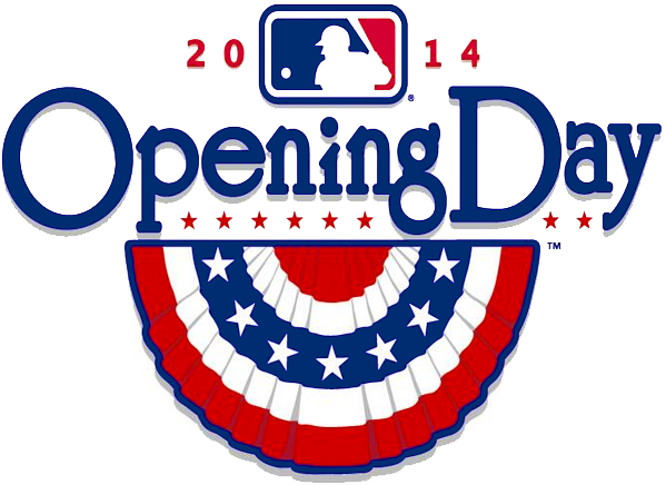 MLB Opening Day Logo Primary Logo (2014) - 2014 MLB Opening Day Logo SportsLogos.Net