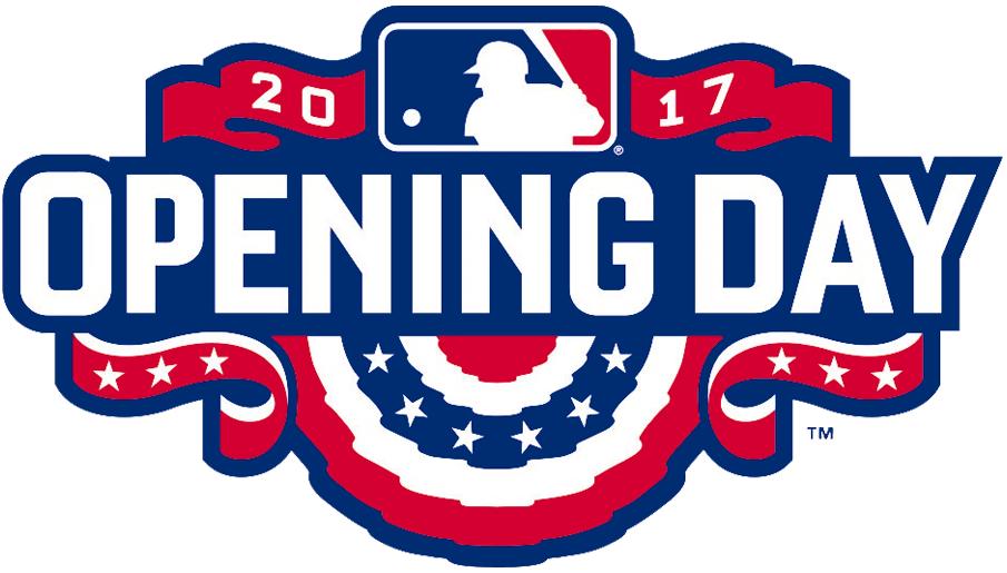 MLB Opening Day Logo Primary Logo (2017) - Major League Baseball MLB Opening Day 2017 Logo SportsLogos.Net