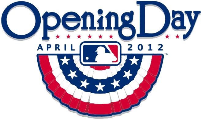 MLB Opening Day Logo Primary Logo (2012) - 2012 MLB Opening Day Logo  SportsLogos.Net