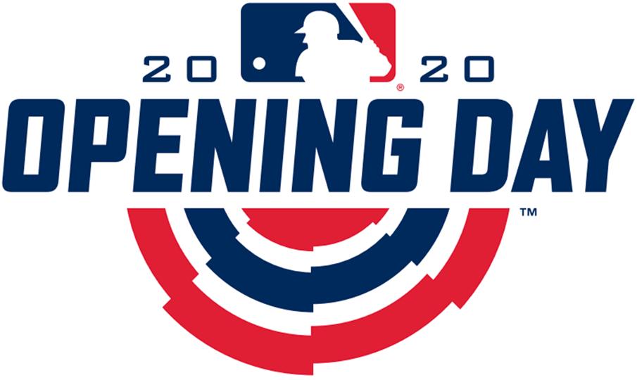 MLB Opening Day Logo Primary Logo (2020) - 2020 MLB Opening Day Logo SportsLogos.Net