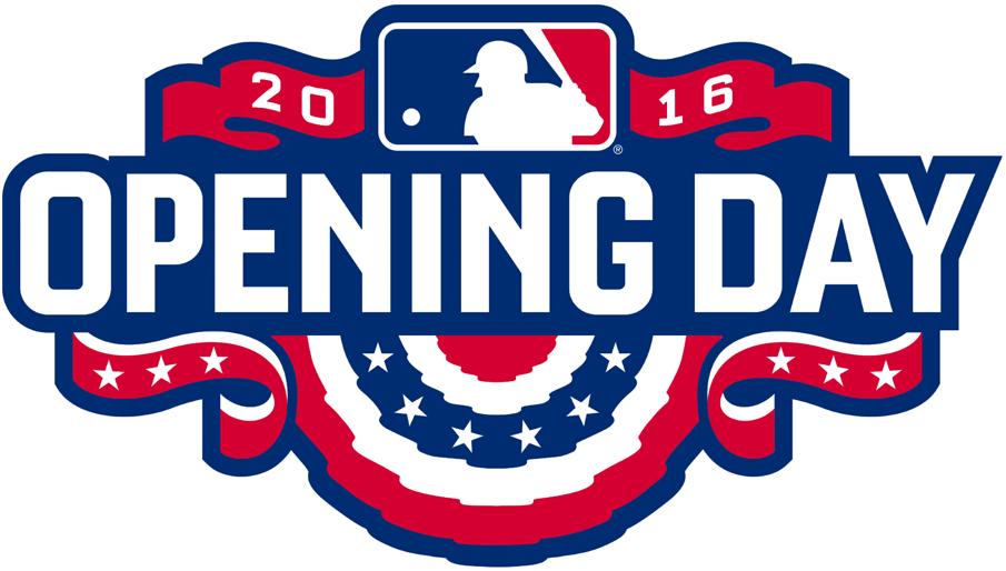 MLB Opening Day Logo Primary Logo (2016) - Major League Baseball MLB Opening Day 2016 Logo SportsLogos.Net