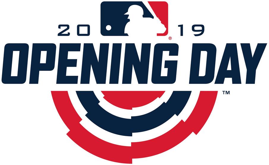MLB Opening Day Logo Primary Logo (2019) - 2019 MLB Opening Day Logo SportsLogos.Net