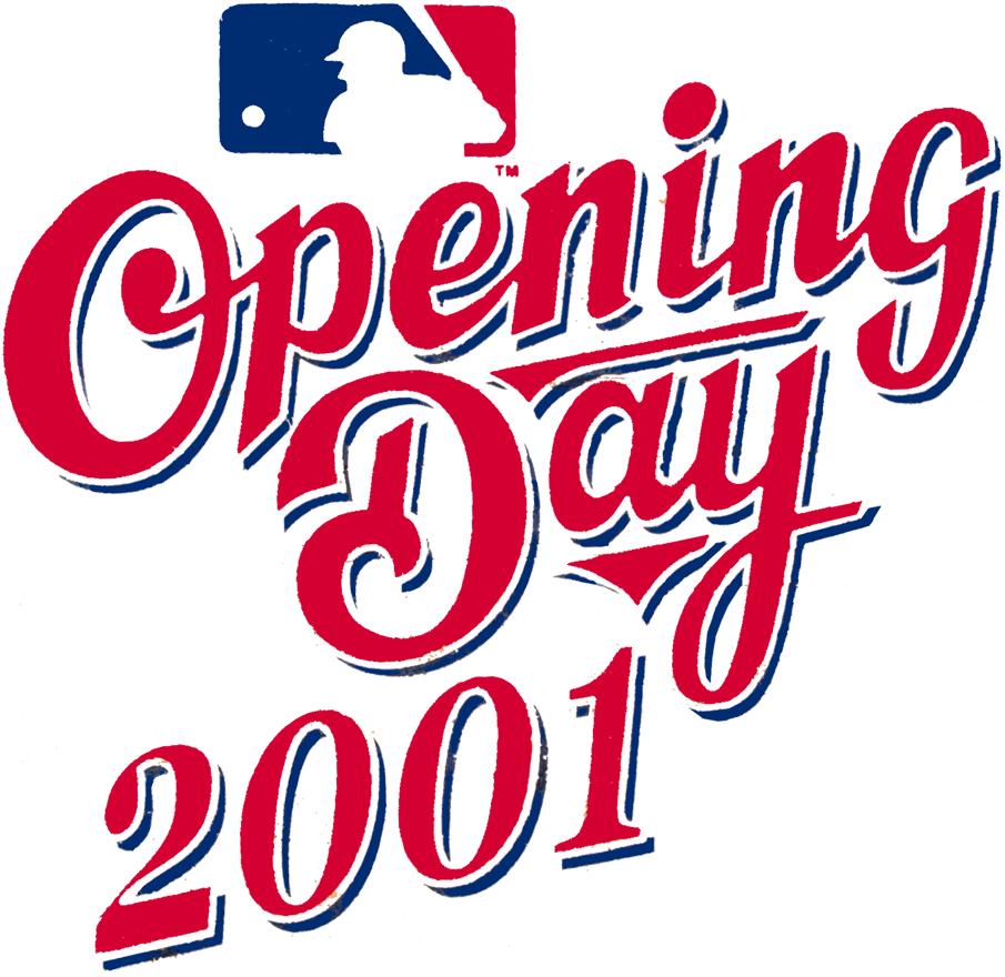 MLB Opening Day Logo Primary Logo (2001) - 2001 MLB Opening Day Logo SportsLogos.Net