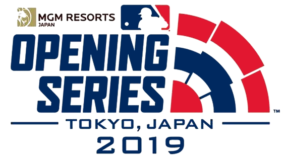 MLB Opening Day Logo Special Event Logo (2019) - 2019 MLB Opening Series in Tokyo, Japan Logo SportsLogos.Net