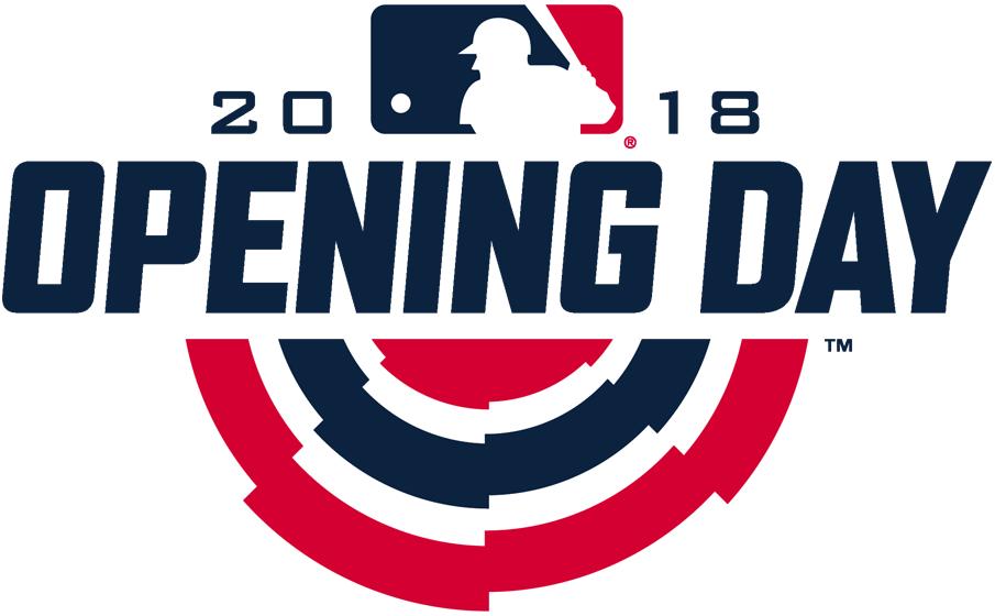 MLB Opening Day Logo Primary Logo (2018) - Major League Baseball MLB Opening Day 2018 Logo SportsLogos.Net