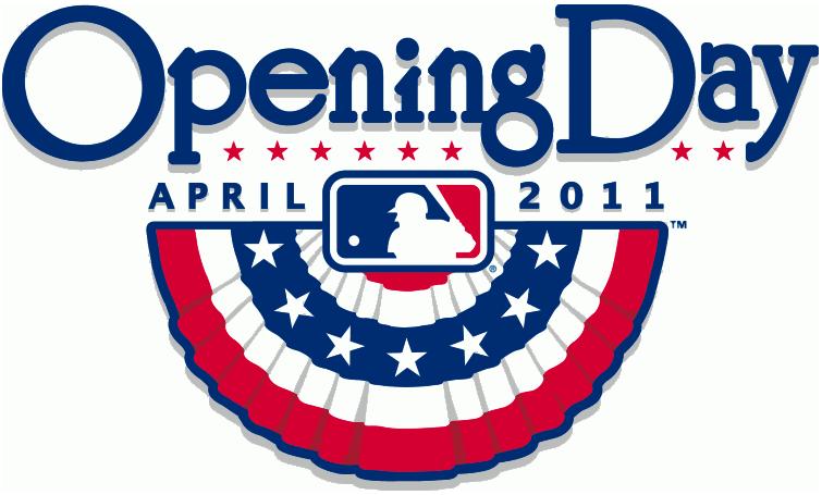 MLB Opening Day Logo Primary Logo (2011) - 2011 MLB Opening Day Logo SportsLogos.Net