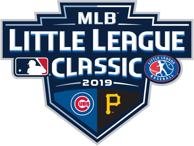 Major League Baseball Logo Special Event Logo (2019) - 2019 MLB Little League Classic Logo - Cubs vs Pirates at Williamsport, Pennsylvania August 18, 2019 SportsLogos.Net
