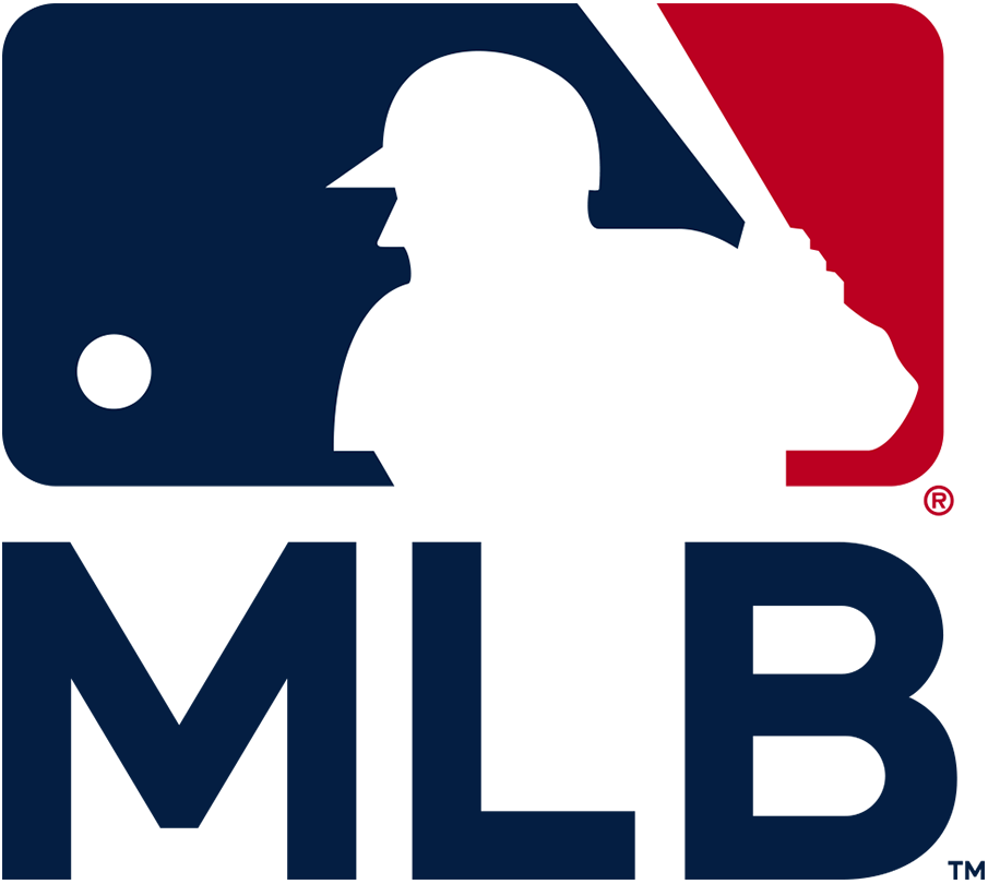 Major League Baseball Logo Alternate Logo (2019-Pres) - MLB silhouetted batter logo with MLB below in custom MLB Bullpen font SportsLogos.Net