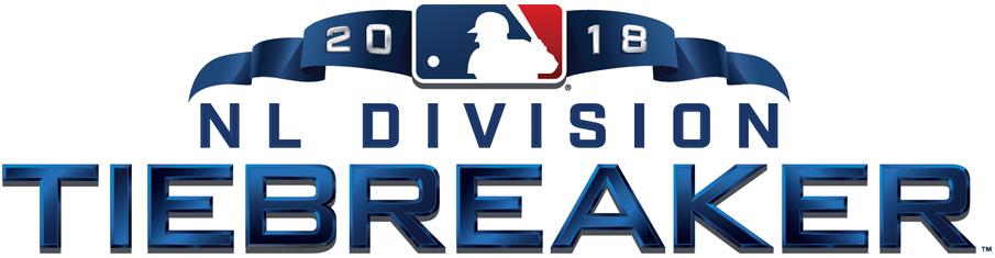 Major League Baseball Logo Special Event Logo (2018) - 2018 NL Division Tiebreaker Logo on white SportsLogos.Net
