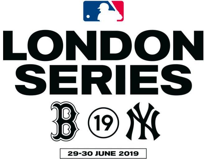 Major League Baseball Logo Special Event Logo (2019) - 2019 MLB London Series Logo - New York Yankees vs Boston Red Sox SportsLogos.Net