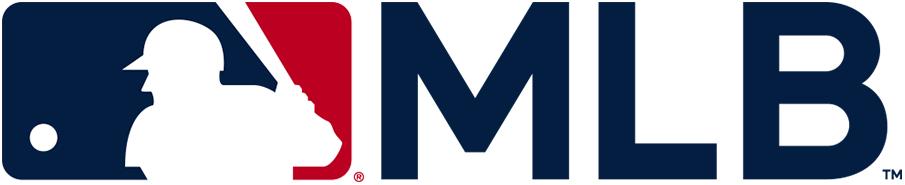 Major League Baseball Logo Alternate Logo (2019-Pres) - MLB silhouetted batter logo with MLB to the right in custom MLB Bullpen font SportsLogos.Net