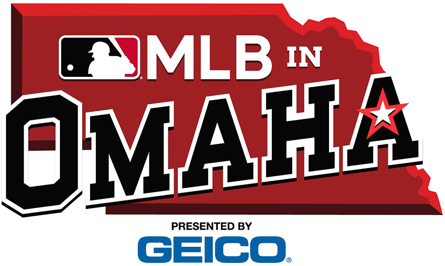 Major League Baseball Logo Special Event Logo (2019) - 2019 MLB in Omaha logo, game played between the Kansas City Royals and Detroit Tigers before the College World Series on June 13, 2019 SportsLogos.Net