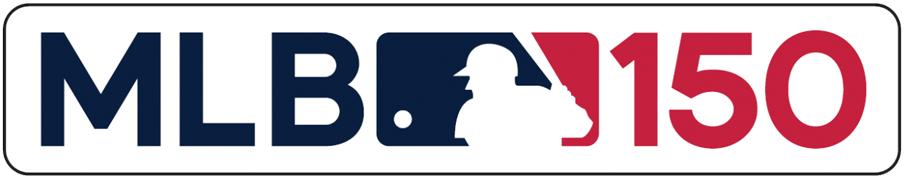 Major League Baseball Logo Anniversary Logo (2019) - Major League Baseball 150th anniversary logo MLB 150 patch worn on jerseys of all teams for 2019 season SportsLogos.Net