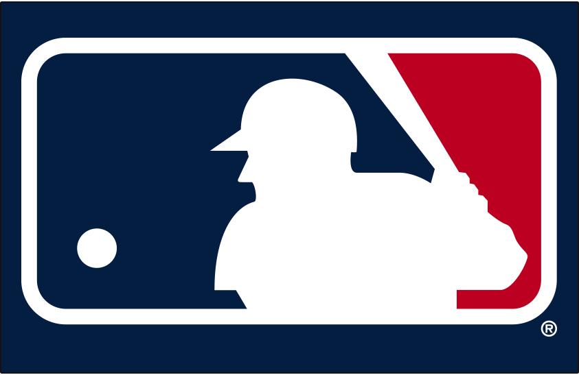 Major League Baseball Logo Primary Dark Logo (2019-Pres) - MLB silhouetted batter logo on dark blue SportsLogos.Net