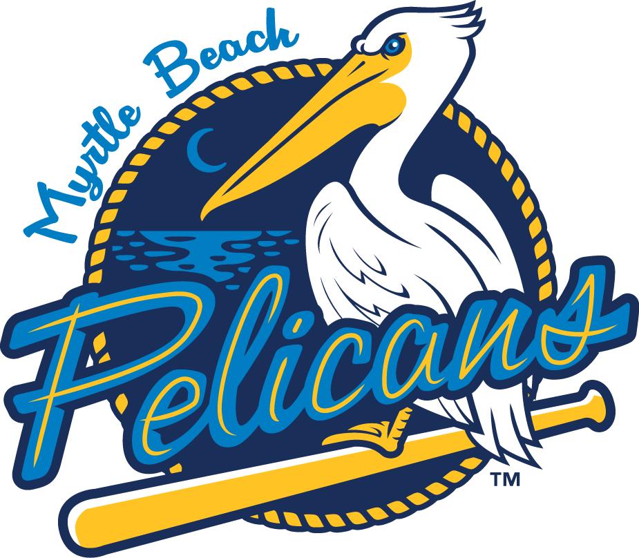 Myrtle Beach Pelicans Logo Primary Logo (2007-Pres) -  SportsLogos.Net
