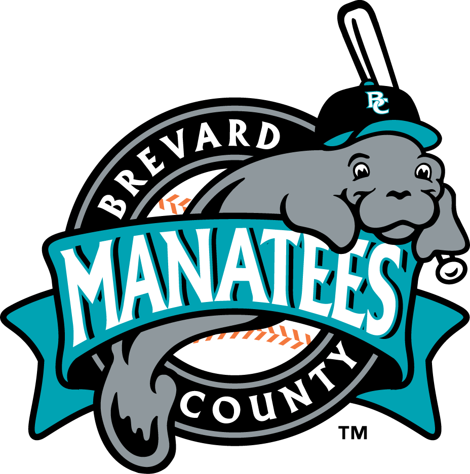 Brevard County Manatees Logo Primary Logo (1994-2001) -  SportsLogos.Net